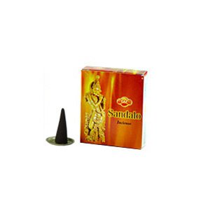 Incense SAC Sandal Cones 4 Packs, 10 Cones per Pack