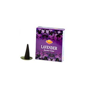 SAC Lavender Cones Incense - 4 Packs, 10 Cones per Pack