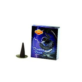 SAC Dragons Blood Cones Incense - 4 Packs, 10 Cones per Pack