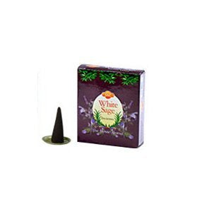 SAC White SAge Cones Incense - 4 Packs, 10 Cones per Pack