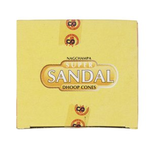 Super Sandal Cone Incense - 4 Packs, 12 Cones per Pack