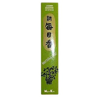 Morning Star Green Tea Incense - 4 Packs, 50 Sticks per Pack