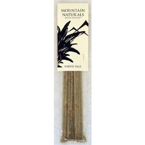 Incense White Sage Resin Sticks Mountain Naturals - Per Package