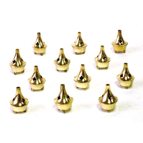 Incense Holder - Small Brass - 1 1/2 Tall - Sold as a Set of 6