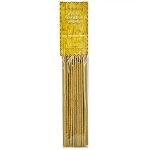 Auroshikha Natural Sandalwood on Stick - 5 Packs, 10 Sticks per Pack