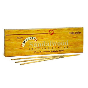 Nikhil Sandalwood Incense - 2 Packs, 50 Grams per Pack