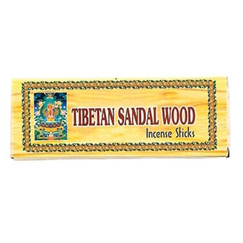 "Tibetan Sandalwood Incense, 7.5"" Length - 3 Packs, 40 Sticks Per Pack"