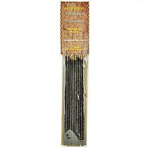 Auroshikha Sacred Myrrh & Frankincense Natural Resin on Stick - 5 Packs, 10 Sticks per Pack