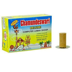 "Sree Chamundeswari Deluxe Computer Sambrani Loban Dhoop, 1.5"" Long - 3 Packs, 24 Sticks per Pack"