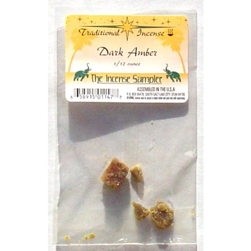 "Dark Amber Incense Packaged in 3""x5"" Bags - Sold in Quantities of 4 Packages"