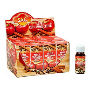 Sac Apple Cinnamon Clove Aroma Oil - 10ml (1/3 Fl. Oz), Set of 3