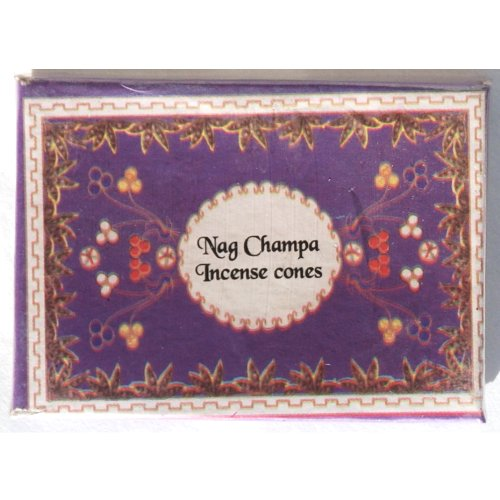 Nag Champa Flora Cones - 16 Cones per Box - Sold in Set of 4 Boxes