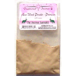 "Aloes Wood Powder Premium Incense Packaged in 3""x5"" Bags"