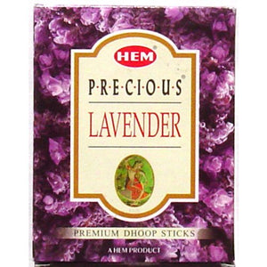 Incense Precious Lavender Hem Dhoop - 75 Grams Plus Burner per Box