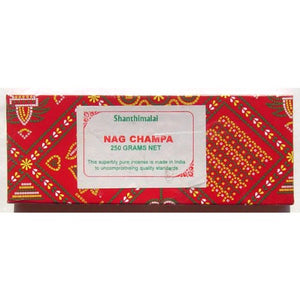 Incense Shanthimalai Nag Champa - 250 Gram Red Box Boxes