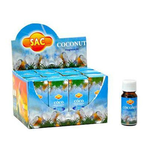 Sac Coconut Aroma Oil - 10ml (1/3 Fl. Oz), Set of 3