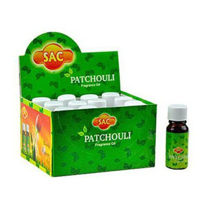 Sac Patchouli Aroma Oil - 10ml (1/3 Fl. Oz), Sold as a Set of 3 Bottles