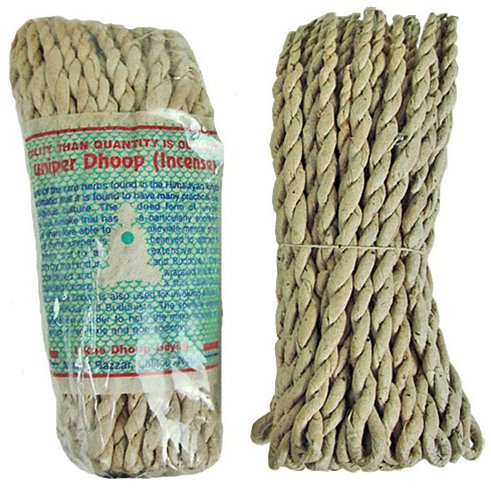 "Tibetan Juniper Dhoop Rope Incense, 5"" Length - 3 Packs, 50 Sticks Per Pack"