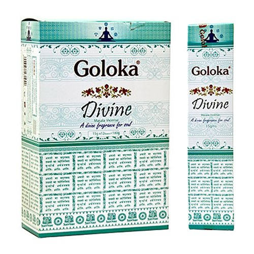 Goloka Divine Incense - 4 Packs, 15 Grams per Pack