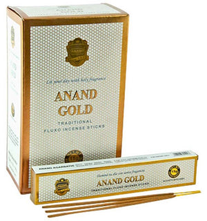 Anand Gold Incense - 15 Sticks Pack (12 Packs Per Box)