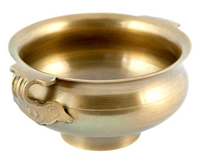"Tibetan Bronze Incense Burner Bowl - 4""D"