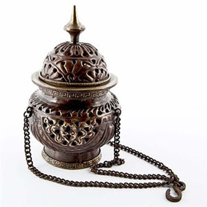 "Tibetan Hanging Censer Burner Antique - 5.5""H"
