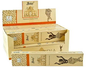BALAJI ART OF INDIA INCENSE - 15 GRAM (12/BOX)