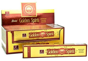Balaji Golden Spirit Incense - 15 Gram Pack (12 Packs Per Box)