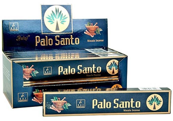 Balaji Palo Santo Incense - 15 Gram Pack (12 Packs Per Box)