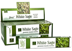 Balaji White Sage Incense - 15 Gram Pack (12 Packs Per Box)