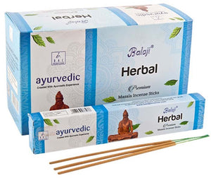 Balaji Herbal Incense - 15 Gram Pack (12 Packs Per Box)