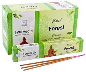 Balaji Forest Incense - 15 Gram Pack (12 Packs Per Box)