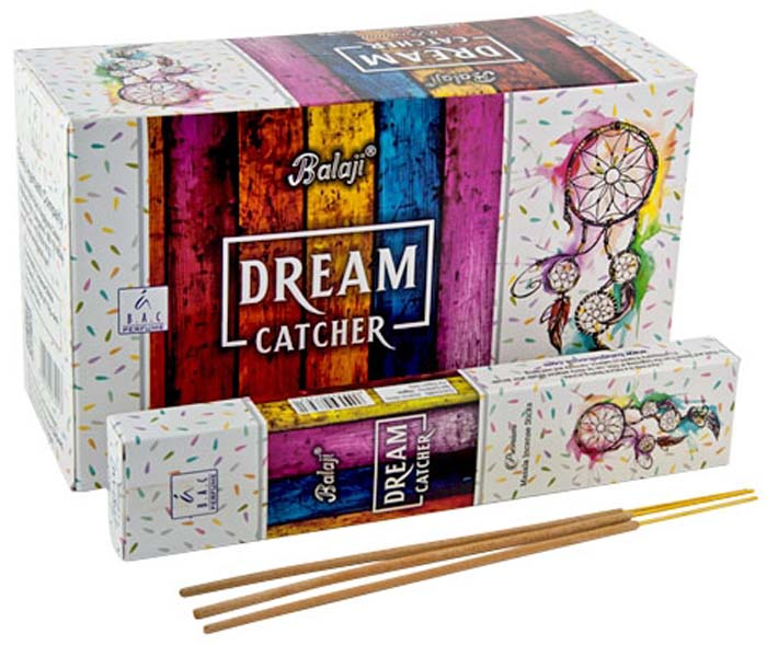 Balaji Dream Catcher Incense - 15 Gram Pack (12 Packs Per Box)