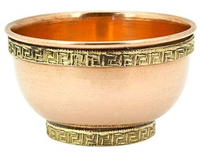 "Plain Copper Offering Bowl - 3""D"