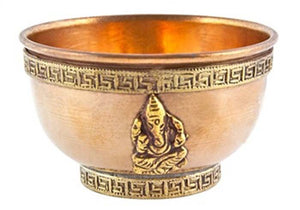 Lord Ganesh Copper Offering Bowl - 3''D