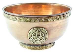 "Triquetra Copper Offering Bowl - 4""D"
