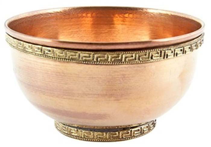 "Plain Copper Offering Bowl - 4""D"
