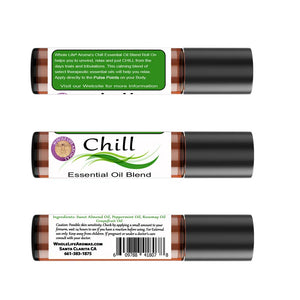 Anxiety Relief Essential Oil Rollon - Chill Blend |10ml | Pre-Diluted
