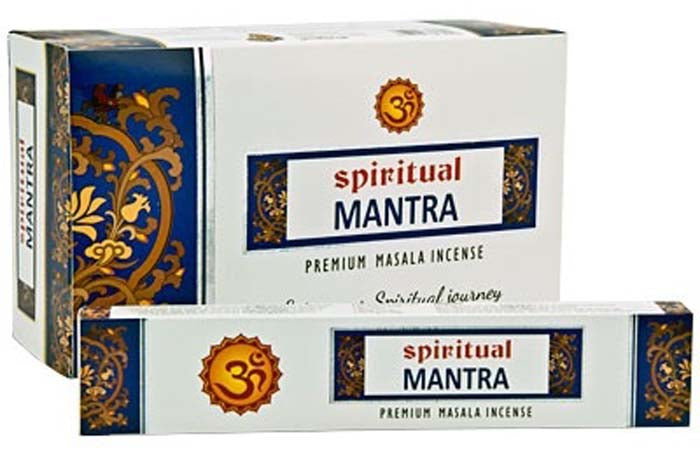 Spiritual Mantra Incense - 15 Gram Pack (12 Packs Per Box)