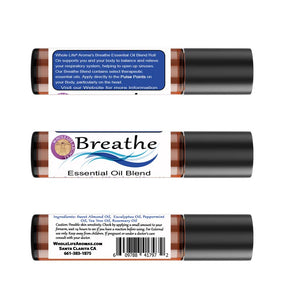 Breathe Essential Oil Respiratory Blend – Rollon | 10ml