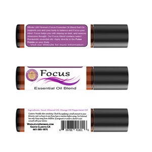 Focus Essential Oil Rollon Blend – 10ml | Energy Balancing | Pre-Diluted