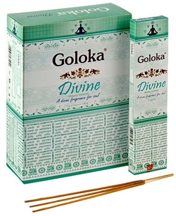 Goloka Divine Incense - 15 Gram Pack (12 Packs Per Box)