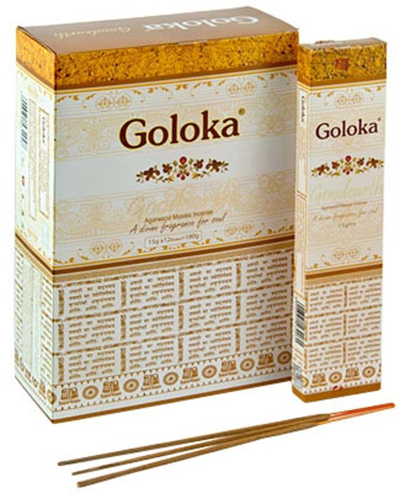 Goloka Goodearth Incense - 15 Gram Pack (12 Packs Per Box)