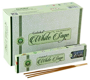Goloka White Sage Incense - 15 Gram Pack (12 Packs Per Box)