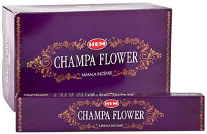 Hem Champa Flower Incense - 15 Gram Pack (12 Packs Per Box)