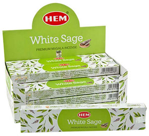 Hem White Sage Incense - 15 Gram Pack (12 Packs Per Box)