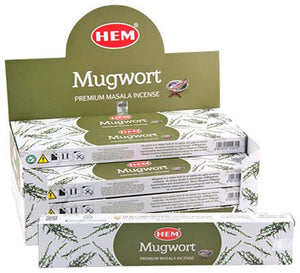 Hem Mugwort Incense - 15 Gram Pack (12 Packs Per Box)