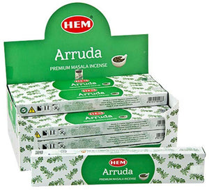 Hem Arruda Incense - 15 Gram Pack (12 Packs Per Box)