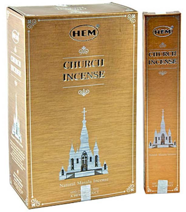 Hem Church Incense - 15 Gram Pack (12 Packs Per Box)
