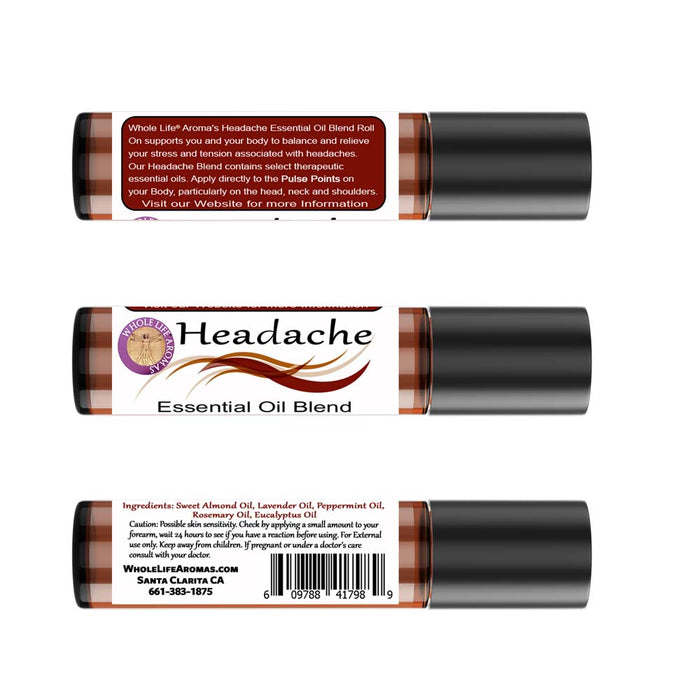 Headache Relief Essential Oil Rollon Blend – 10ml | Migraine Relief | Tension